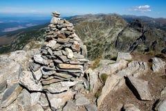 Orlovets maximumsikt från Malyovitsa, Rila berg Royaltyfria Foton
