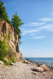 Orlowo Cliff at Baltic Sea in Gdynia Royalty Free Stock Photo