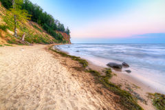 Orlowo cliff at Baltic sea Royalty Free Stock Photography