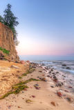 Orlowo cliff at Baltic sea. In Poland Stock Photos