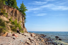 Orlowo Cliff in Gdynia at Baltic Sea Stock Images