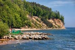 Orlowo faleza w Gdynia przy morzem bałtyckim Zdjęcia Stock