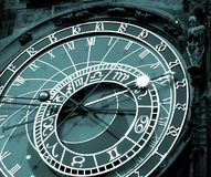 Orloy clock - symbol of Prague. Famous old medieval astronomical clock in Prague, capital of Chech Republic royalty free stock images