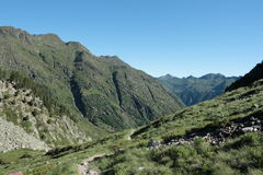 Orlu valley in Pyrenees Stock Photo