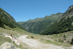 Orlu valley in Pyrenees Royalty Free Stock Photography
