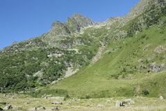 Orlu valley in Pyrenees, France Stock Image
