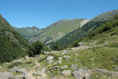 Orlu valley in Pyrenees, France Royalty Free Stock Image