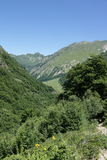 Orlu valley in Pyrenees, France Royalty Free Stock Photos