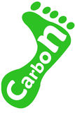 Orma del carbonio Fotografie Stock