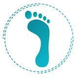 Orma dell'icona Può essere usato per gli ortopedici o i prodotti di cura dei piedi royalty illustrazione gratis
