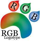 Orma di Rgb Fotografia Stock