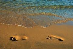 Orma nella sabbia Immagine Stock Libera da Diritti