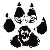 Orma, stampa della zampa del lupo illustrazione vettoriale