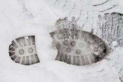 Orma sulla neve Immagine Stock Libera da Diritti