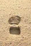 Orma sulla sabbia. Fotografia Stock