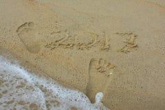Orma sulla spiaggia Immagine Stock Libera da Diritti