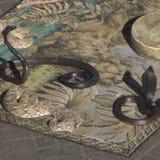 Ormar i Marrakech Marocko Arkivbild