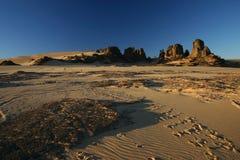 Orme nel Sahara Immagine Stock Libera da Diritti
