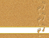 Orme nell'illustrazione della sabbia Fotografie Stock Libere da Diritti