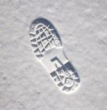 Orme nella neve Immagine Stock Libera da Diritti