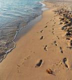 Orme nella sabbia Immagini Stock Libere da Diritti