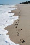 Orme in sabbia Immagine Stock Libera da Diritti