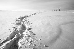 Orme sulla neve Fotografia Stock Libera da Diritti