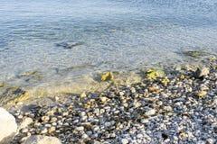 Orme sulla spiaggia dell'isola di Ibiza in Spagna, la festa ed in Unione Sovietica Immagini Stock