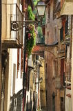 Ormea, Piemonte, Italy. Narrow lane Royalty Free Stock Image
