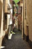 Ormea, Piemonte, Italy. Narrow lane Royalty Free Stock Images