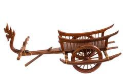 Ormen Carts wood konst i Thailand Arkivbild