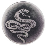 Ormen - ett symbol av vishet och vitaliteten, förmyndareliv, hälsa Arkivbilder