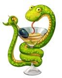 Ormen kuper på Arkivfoton