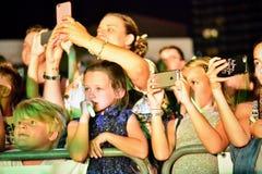 Ormer czynnika konkursantów 4th wpływ wykonujący przy rocznymi Gibraltar lata nocami Obraz Stock