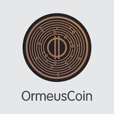 Ormeuscoin Cryptocurrency Coin. Vector Web Icon of ORME. Royalty Free Stock Image