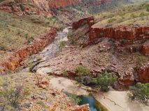 The Ormiston gorge in the Mcdonnell ranges Royalty Free Stock Image