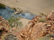 The Ormiston gorge in the Mcdonnell ranges Royalty Free Stock Photos