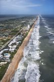 Ormond Beach, Flordia. Aerial view of Ormond Beach, Flordia with oceanfront buildings Royalty Free Stock Photography