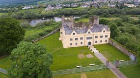 Ormond castle. Carrick-on-Suir. co. Tipperary. Ireland. Aerial view. Ormond castle in Carrick-on-Suir. county Tipperary. Ireland stock image