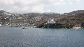 ormos harboron的宽看法agia irini教会ios,希腊海岛