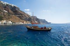 Ormos port, Santorini. Royalty Free Stock Photo