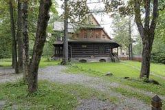 Ornak, casa de campo de madeira em Zakopane Imagem de Stock Royalty Free