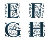 Ornam.Letters w.Leaves 2 Royalty-vrije Stock Afbeeldingen