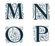 Ornam.Letters w.Leaves 4 Stock Afbeeldingen