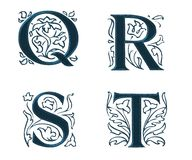 Ornam.Letters w.Leaves 5 Stock Photo