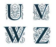 Ornam.Letters w.Leaves 6 Royalty-vrije Stock Fotografie