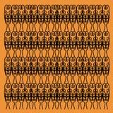 Ornam noir exotique d'or exotique de luxe de mandalas Photographie stock libre de droits
