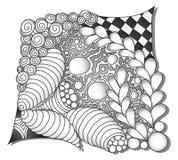 Ornamen monocromáticos abstratos do zentangle Fotografia de Stock Royalty Free