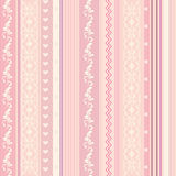 Ornamenral pink striped wallpaper Stock Photography