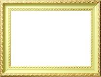ornamentów antykwarscy ramowi złociści whis Fotografia Stock